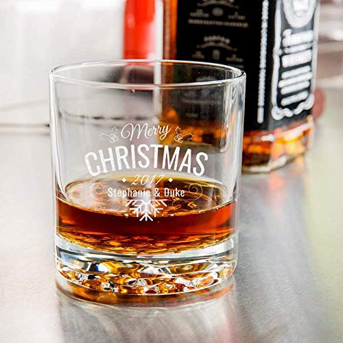 Hill Old Nob Fashioned (Center Gifts Christmas Libbey Nob Hill Rocks/Old Fashioned Glass - Personalize It with the Name For You or Your Loved Once - Best Personalized Gift Idea for Christmas)