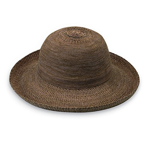 Wallaroo Hat Company Women's Victoria Sun Hat - Lightweight and Packable Hat, Suede (Hat Suede Straw)