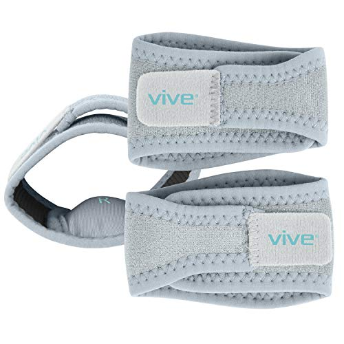 Vive Arch Support Brace (Pair) - Plantar Fasciitis Gel Strap for Men, Woman - Orthotic Compression Support Wrap Aids Foot Pain, High Arches, Flat Feet, Heel Fatigue - Insert for Under Socks and Shoes (Best Shoes For Cuboid Syndrome)