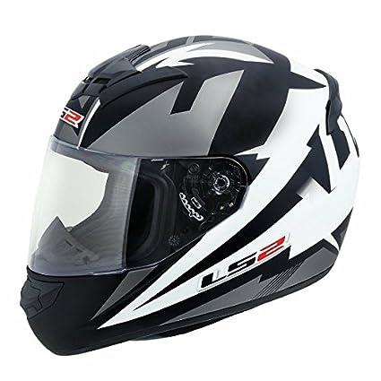 9425461cbd4 LS2 Full Face Premium Helmet FF 352 DYNO BLACK WHITE MATT WITH MERCURY VISOR  'L' SIZE: Amazon.in: Car & Motorbike