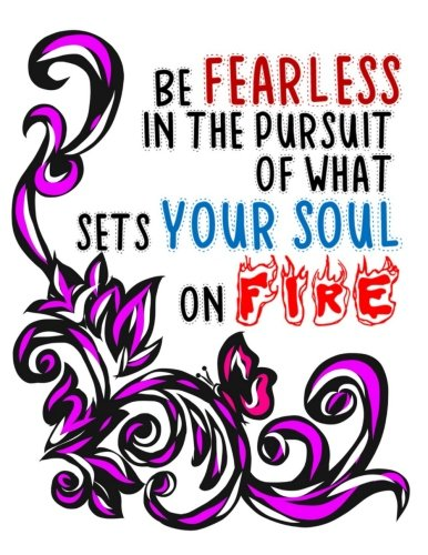 Download Be Fearless In The Pursuit Of What Sets Your Soul On Fire: Purple And Black Color Visual Art Notebook 110 page (8.5 x 11 inch) Large Composition Book ... Quote Notebooks and Journals (Volume 15) PDF