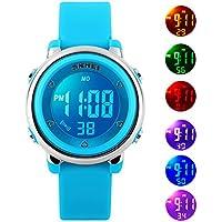Kids Reloj digital para niños niñas–Impermeable reloj deportivo con alarma cronómetro Childrens relojes al aire última intervensión