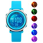 Kids Digital Watch for Boys Girls -Waterproof Sports Watch with Alarm Stopwatch Outdoor Childrens Watches