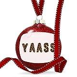 Christmas Decoration Yaass Cheetah Cat Animal Print Ornament