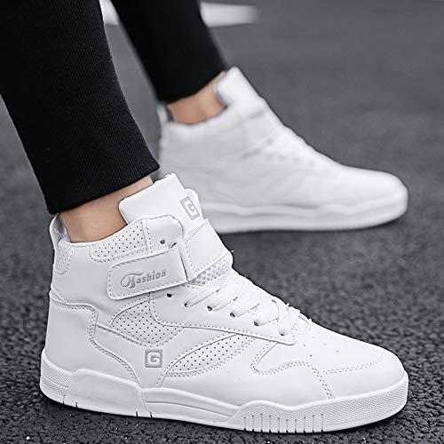 De Hommes Sneakers Haut Muou À Pour Baskets Mode Weiß Chaussures Sport 0 Talon Plat ZUP55wB8qx