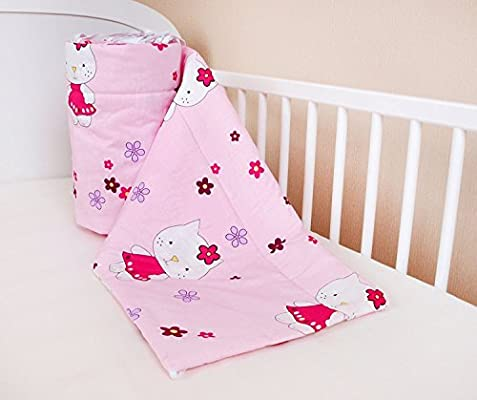/Protector de cabeza cuna 420/x 30/cm Cuna Nest/ 180/x 30/cm Cama Cuna Baby Protector de bordes cama Equipamiento Lunares Blanco Talla:180x30cm 360/x 30/cm