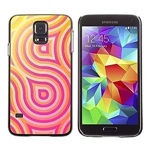 Be Good Phone Accessory // Dura Cáscara cubierta Protectora Caso Carcasa Funda de Protección para Samsung Galaxy S5 SM-G900 // pink yellow lines pattern swirl sun
