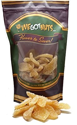 We Got Nuts Crystallized Ginger Slices - Best Healthy Snack On The Go- Nutritious Snack Food For Kids & Adults In Resealable Bag- Ideal For Healthy Snack Recipes We Got Nuts