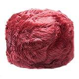 Women's Wine Faux Fur Cossack Style Russian Hat