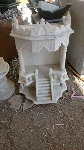 RM Marble Home Decorative Puja Place White Temple ()