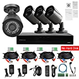 Evtevision 8CH 1080N 5N1 DVR Kit,8 Channel 1080P Lite AHD/TVI/CVI/Analog DVR+ 4Pack 720P AHD/TVI/CVI/Analog/IP Bullet Cameras, Home Video Security CCTV System,Supports coaxial control/UTC (No HDD) Review
