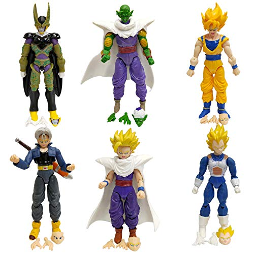 Dragon Ball Z 6x5 Action Figures - Piccolo Cell Trunks Super Saiyan Goku Gohan Vegeta Action Figures ()