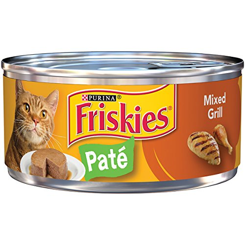 Purina Friskies Pate Mixed Grill Cat Food - (24) 5.5 oz. Pull-top Can - Halo Feeder