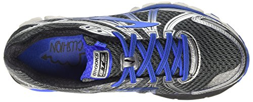 Brooks Men's Adrenaline GTS 17 Anthracite/Electric Brooks Blue/Silver 7 D US