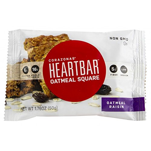Heartbar Oatmeal Square, Oatmeal Raisin, 1.76 Ounce, 12 Count