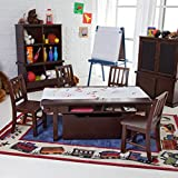 Deluxe Activity Table with 4 Chairs - Espresso