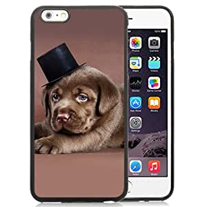 New Custom Designed Cover Case For iPhone 6 Plus 5.5 Inch With Labrador Puppy With A Tophat Animal Mobile Wallpaper Phone Case