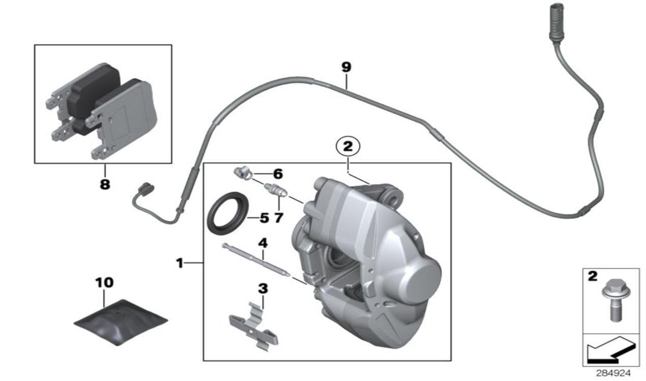 BMW Genuine Rear Brake Pad Wear Sensor F20//F21//F30//F31 1//3 Series 34356792292