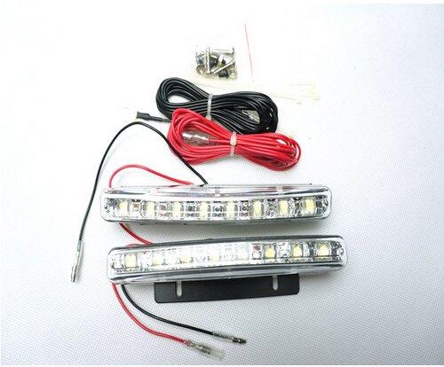 [해외]Forti 미국 | /Forti USA | Universal Fit Waterproof 8 LEDs Daytime Running Lights Kit DRL Fog Lights White - A Pair