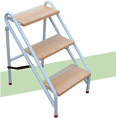 SMBYLL Taburete para escalones Escalera plegable para el hogar Taburete para escaleras Escalera para escalar Escalera de madera maciza alta Estante Estante para flores Taburete para escaleras Taburete: Amazon.es: Hogar