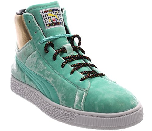 40d57468f684 PUMA Basket Mid X Dee Ricky Men s Green Textile High Top Sneakers Shoes