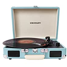 Crosley Radio Cruiser Portable Turntable, Turquoise