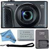 Canon PowerShot SX730 HS 20.3MP Digital Camera 40x Optical Zoom and Built-in WiFi/NFC (Cloth Only, Black)