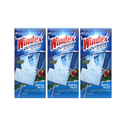 Windex All-In-One Window Cleaner Pads Refill - 2 ct - 3 pk