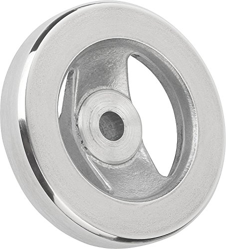 Kipp 06277-0250XCV Aluminum 2 Spoke Hand Wheel without Handle, 250 mm Diameter, 0.875'' Bore Size