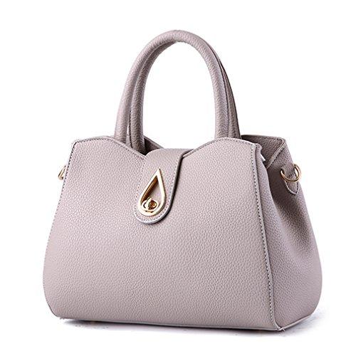 LOMOL Womens Fashion Noble Contracted Elegant Leather Tote Top-handle Handbag Shoulder Bag(C4)