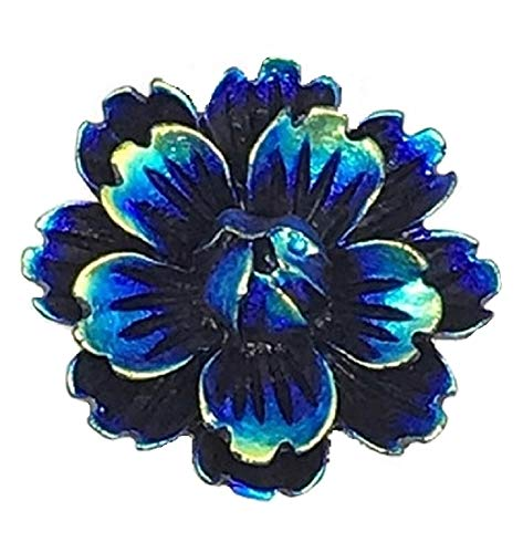 - Iridescent Flower Snap Charm 1 Inch 18mm 20mm Snaps