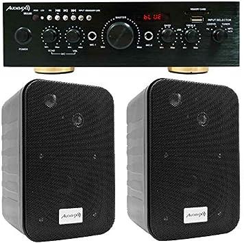 Audibax Equipo Karaoke Amplificador Bluetooth Miami 100+100W + ...