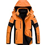 Zimaes-Men with Hood Warm Thicken Zip-Up Jacket Snowboard