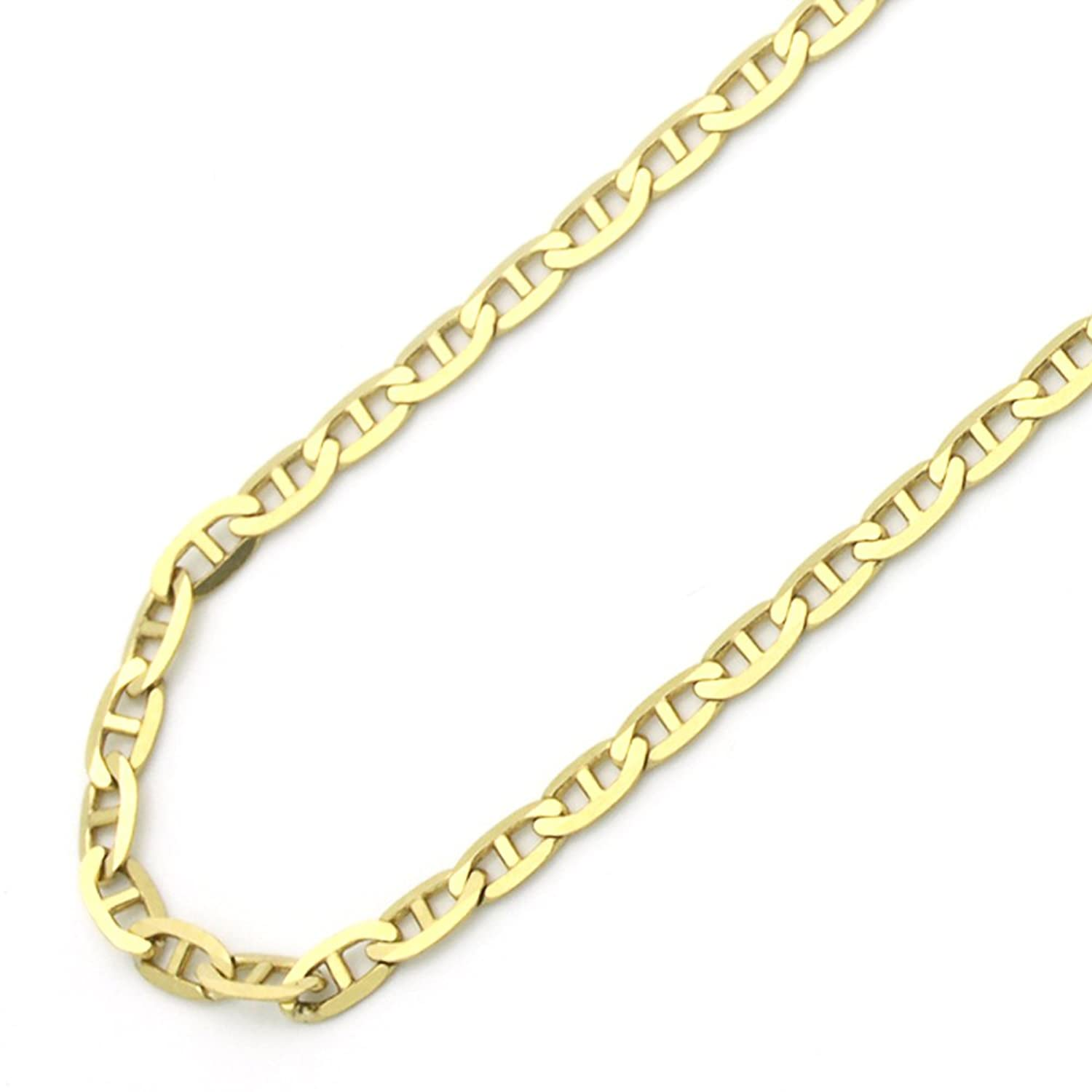 chy gold jewelry g very thin box white italian gauge bling chain necklace