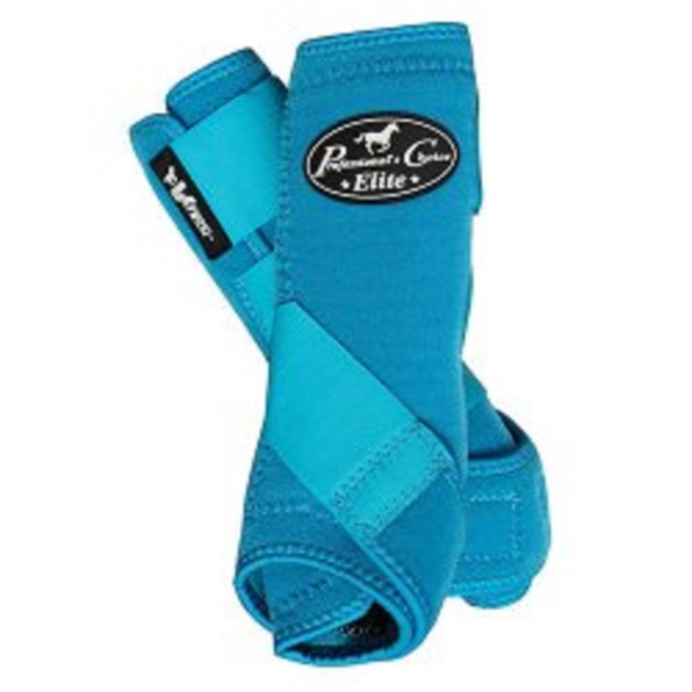 Professional's Choice 4-PACK of VenTech Elite Sports Medicine Boots Front and Rear Legs Light Weight Comfortable Horse Leg Protection (Pacific Blue, Large)