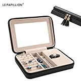 Jewelry Box Small Travel Jewelry Organizer Storage Case with Large Mirror for Rings Earring Necklace bracelets Gifts for Women Girls