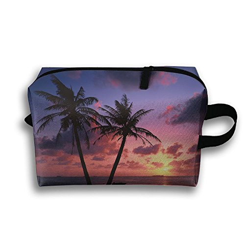 Beach Sunset At Dusk Travelling Clutch Handbag For Women Cosmetics Case With - In Va Malls Beach