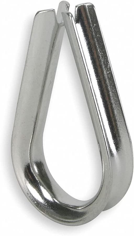 Wire Rope Thimble 7//16 in Steel PK25