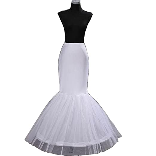 2b502a362e3b Chady 1-Hoop Mermaid Fishtail Crinoline Petticoat Underskirt Wedding Dress Wedding  Petticoat at Amazon Women's Clothing store: