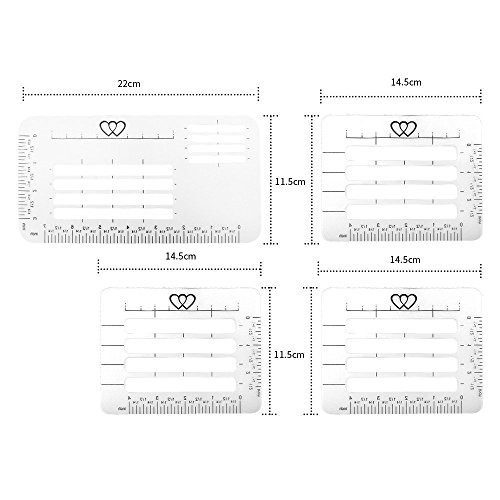 Envelope Addressing Guide Stencil Templates Fits Wide Range
