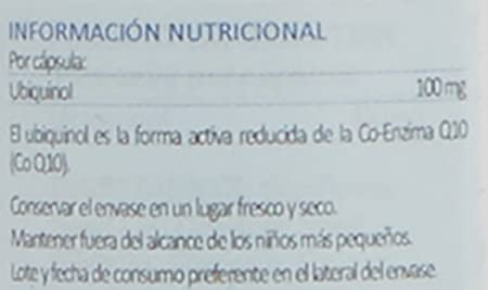 Lamberts Ubiquinol 100 mg - 60 Cápsulas: Amazon.es: Salud y cuidado personal