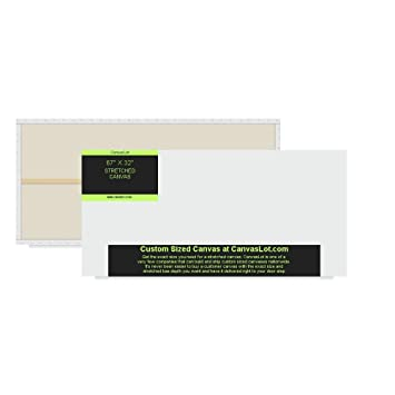 amazon com canvaslot extra large 67 x 32 pre stretched blank canvas