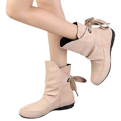 59128ac42eb ZYUEER Hiver Mode Haut Talon Lacent Bottines Femmes Bas Bottes Bottines  Chelsea Talon Interieur Chaussure Chaud