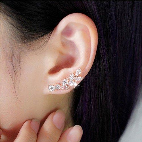 Chicinside Sweep up CZ Crystal Ear Wrap Pin Ear...