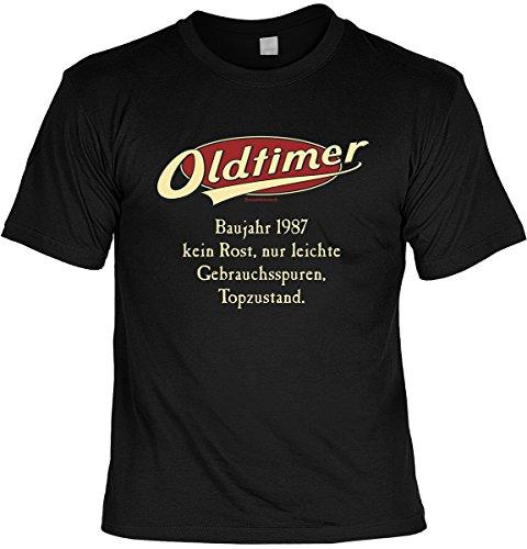 T-Shirt - Oldtimer - Baujahr 1987 - mit Mini Shirt - Geschenk Set mit lustigem Spruch als ideales Geburtstagsgeschenk