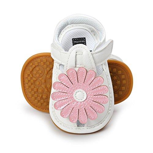 BOBORA Bebe Ninas Verano Zapatos De Suela Suave Sandalias De Girasol rosa