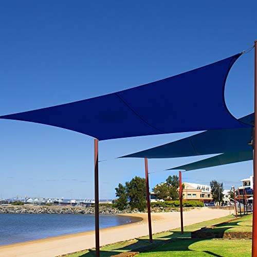 XCSOURCE 13 x10 Sun Shade Sail Rectangle Water Resistant Outdoor Shade Sail for Patio Garden Terrace 95 UV Block 210GSM Sun Shade Cloth