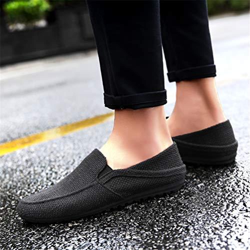 Negro Perezosos Respirables De Zapatos Casuales Los Hombres Mocasines Alpargatas H80qzH