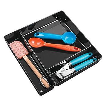 mDesign Organizador de cajones - Práctico cubertero para cajón para organizar su cubertería - El ideal portacubiertos para sus cucharas, espátulas, ...