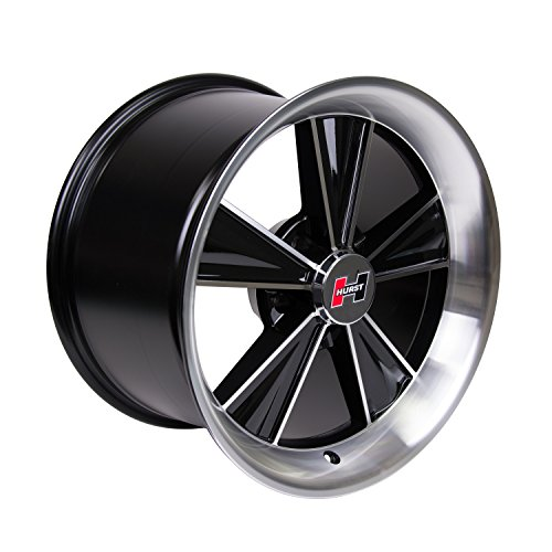Hurst Dazzler Black Accent/Clear Coat Wheel with Mirror Machined Face (17×10.5″/5×114.3mm)